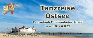 ROYALDANCE Tanzreise Sommer an der Ostsee